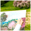 Get free hints and lessons on special techniques used by plein air artists.